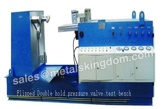 Why should the valve of the valve test bed have pressure test leak?