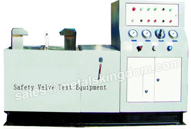 How does the valve pressure test equipment detect the sealing surface?