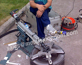 MJ250 Portable Globe Valve Grinding Machine exported